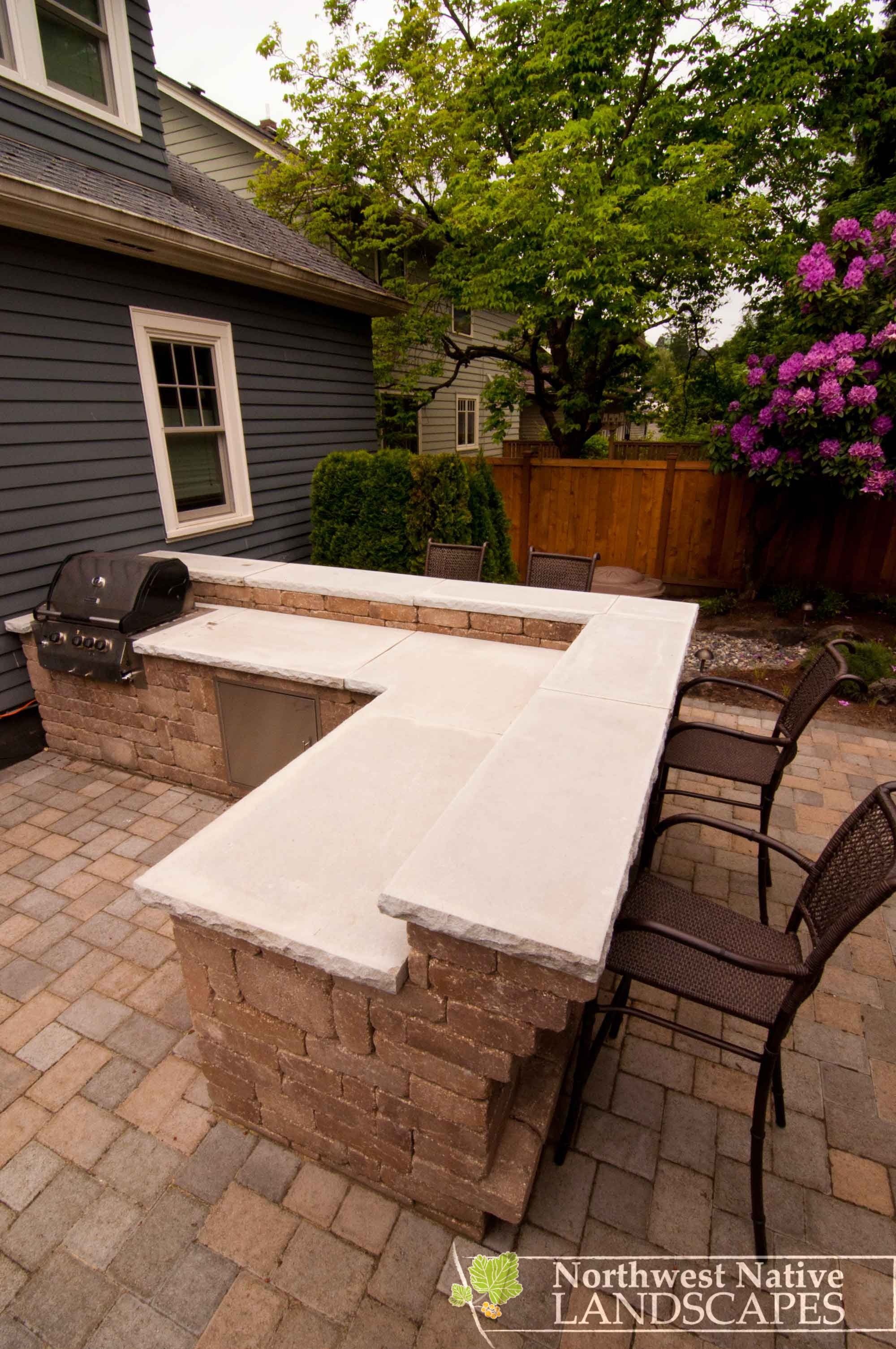 patio stacked slab sides pin way turned island kitchen it the stone love bbq travertine